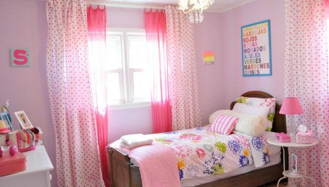 Дизайн розовой спальни для девочек