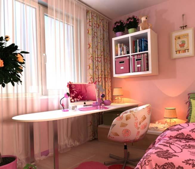 Дизайн розовой детской спальни