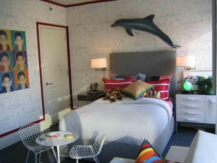 Комната в морском стиле - фото