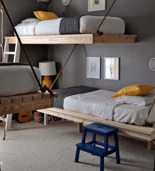 Детская комната в морском стиле - фото