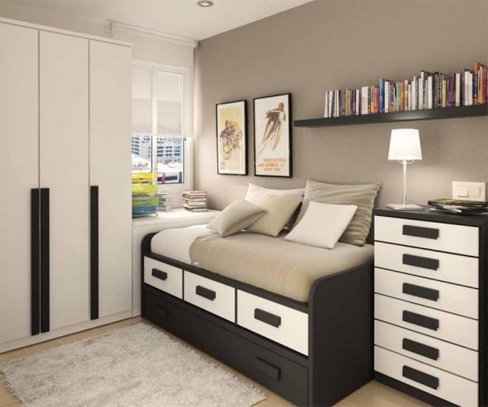 Оформление маленькой спальни 12 кв. м. для мальчика