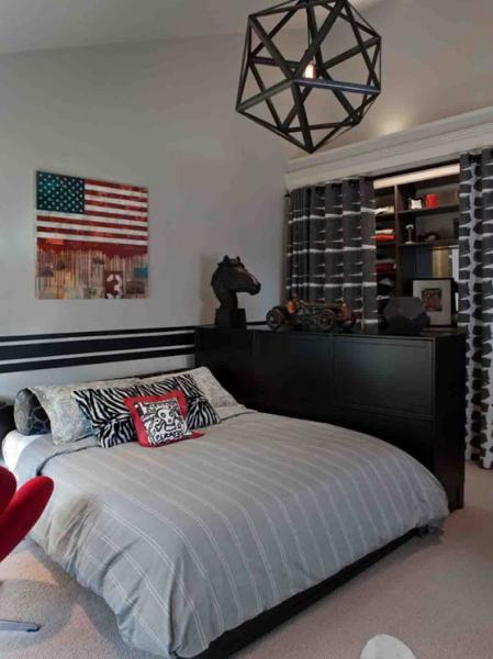 Спальня для мальчика в стиле минимализм