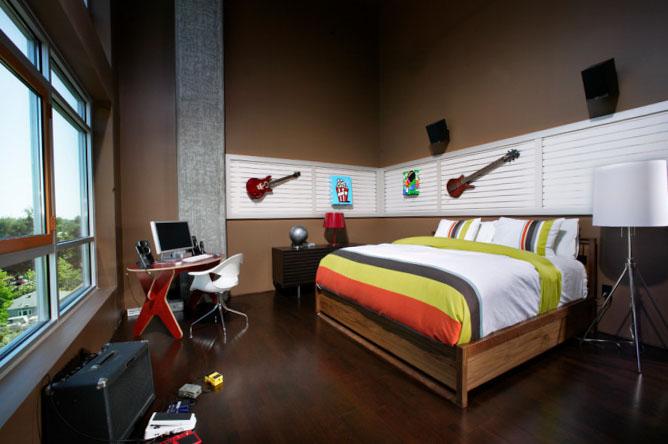 Фото спальни для мальчика в стиле лофт