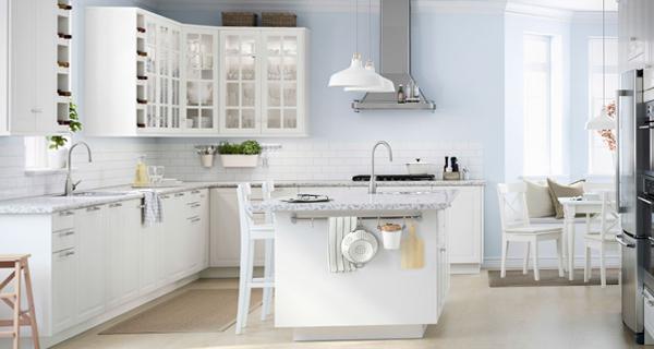 Белая кухня от Икеа - 1