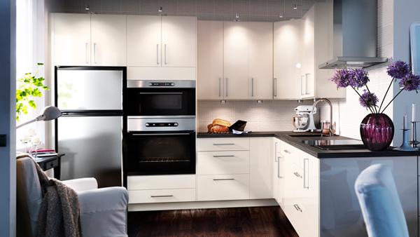 Кухонная мебель от Икеа (белая) - 3
