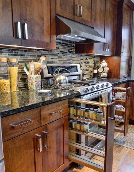Полки и ящики в кухонной мебели от Икеа – 5