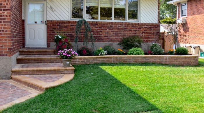 Дизайн двора частного дома 6 соток