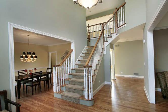 Лестницы на второй этаж в американском стиле