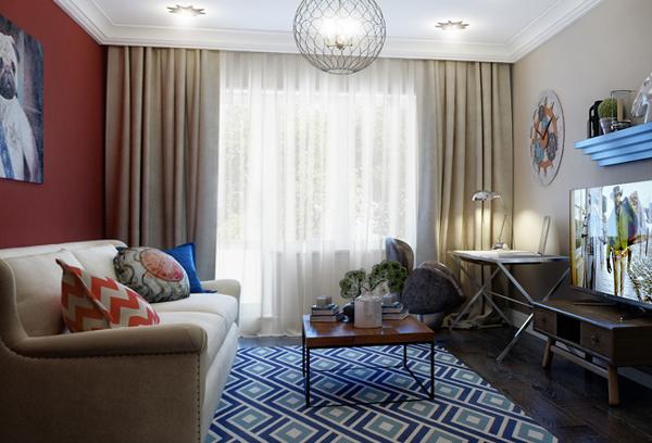 Мебель для гостиной (эклектический стиль) – 4