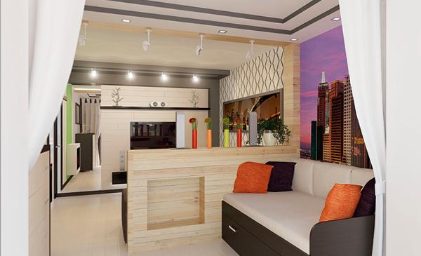 Мебель для гостиной (зонирование) – 1