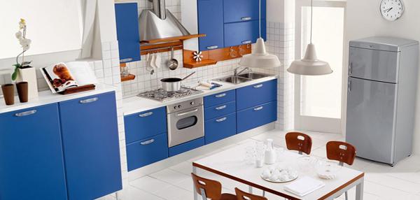 Мебель для кухни в голубых тонах- 6