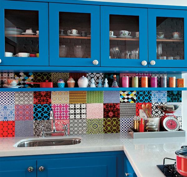 Мебель для кухни в голубых тонах - 7