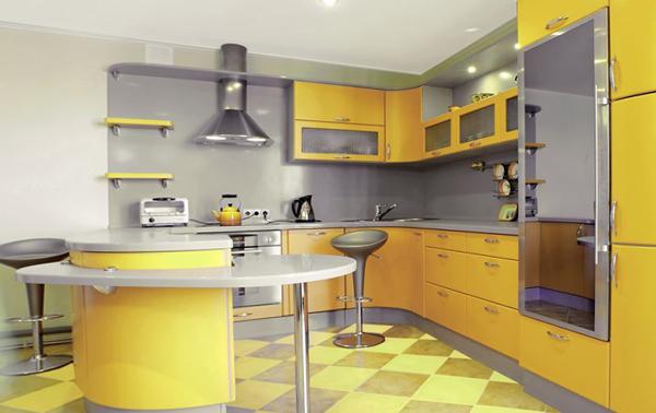 Кухня в желтых тонах– 1