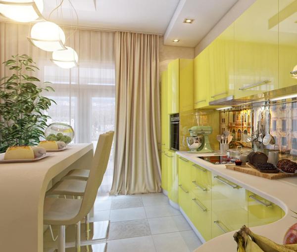 Кухня в желтых тонах-2