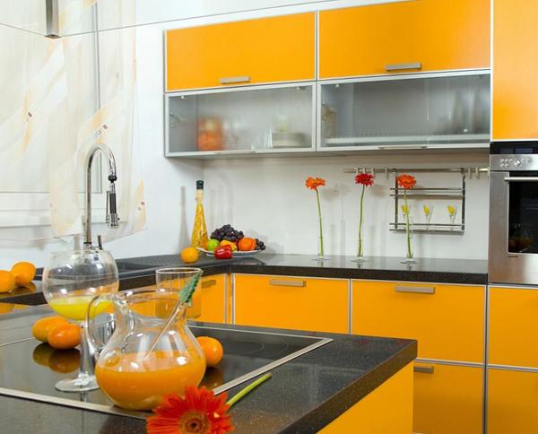Кухня в желтых тонах- 6