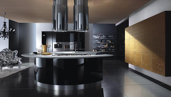 Мебель для кухни в темных тонах-3