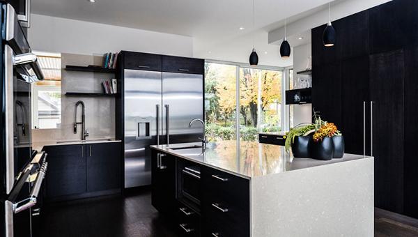 Мебель для кухни в темных тонах- 4