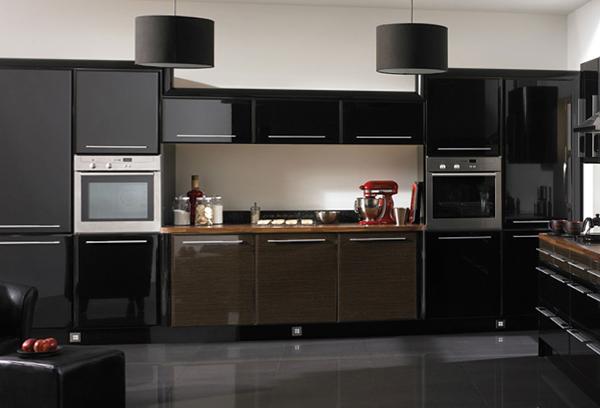 Мебель для кухни в темных тонах- 6