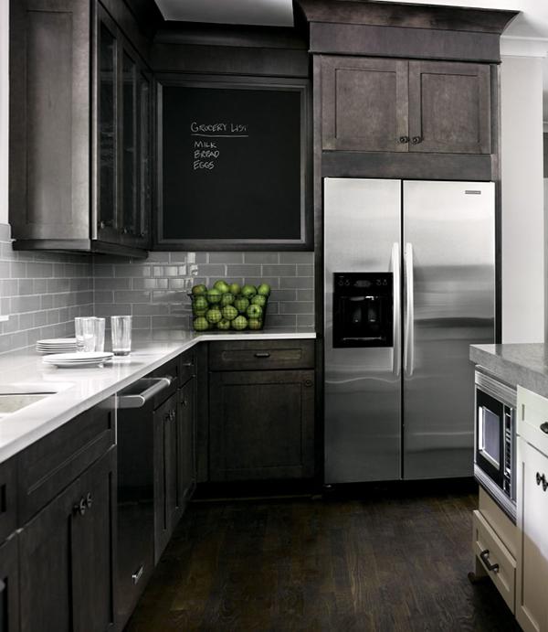 Мебель для кухни в темных тонах - 7