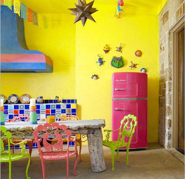 Мебель для кухни в ярких тонах– 1
