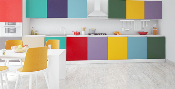 Мебель для кухни в ярких тонах-3