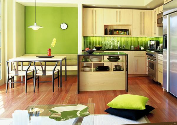 Мебель для кухни в зеленых тонах– 1