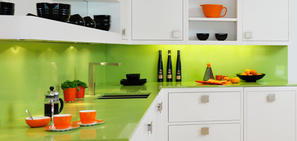 Мебель для кухни в зеленых тонах- 4