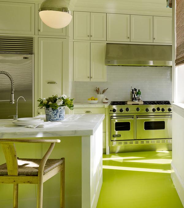 Мебель для кухни в зеленых тонах- 6