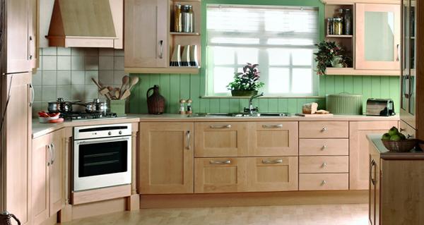 Мебель для кухни в зеленых тонах - 7