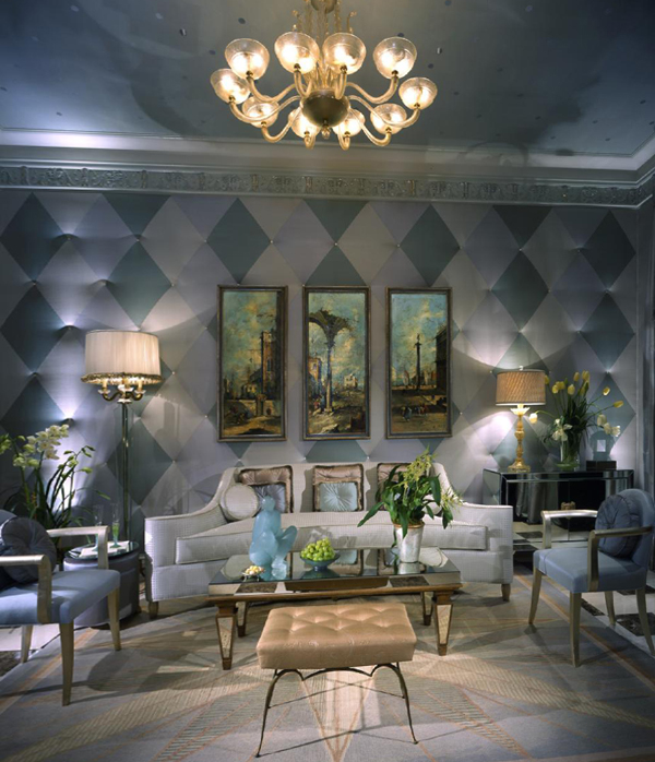 Гостиная в современном стиле (мебель арт-деко) – 2