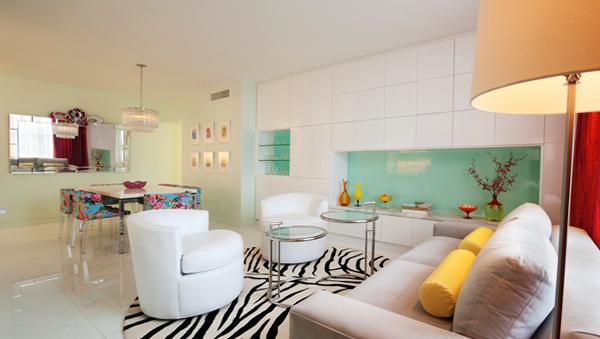 Гостиная в современном стиле (мебель арт-деко) – 4