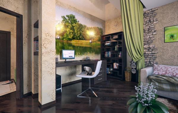 Мебель для гостиной в современном стиле (экостиль) - 4