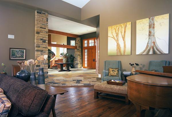 Гостиная в современном стиле (мебель экостиль) – 2