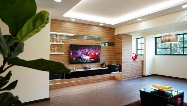 Гостиная в современном стиле (мебель экостиль) – 4