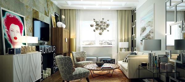 Мебель для гостиной в современном стиле (фьюжн) – 1