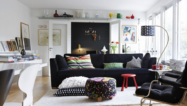 Гостиная в современном стиле (мебель фьюжн) – 2