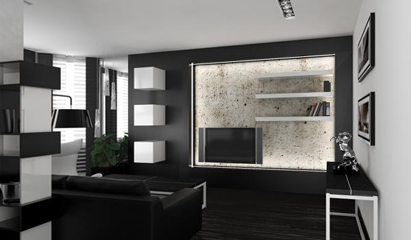 Мебель для гостиной в современном стиле (хай-тек) – 5