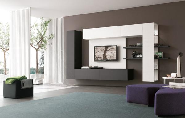 Гостиная в современном стиле (мебель хай-тек) – 2