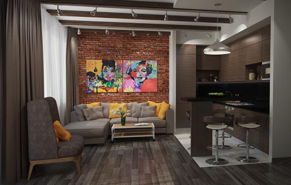 Мебель для гостиной в современном стиле (лофт) - 4