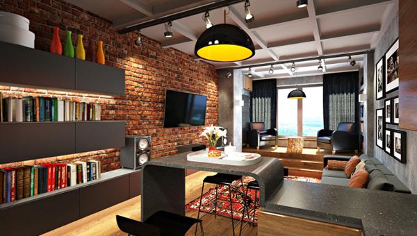 Мебель для гостиной в современном стиле (лофт) – 5
