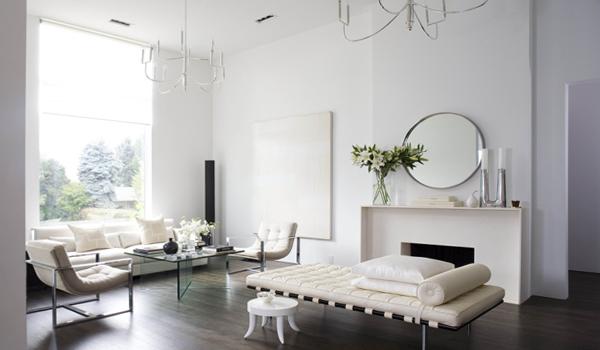 Гостиная в современном стиле (мебель минимализм) – 2