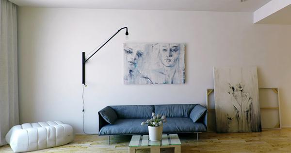 Гостиная в современном стиле (мебель минимализм) – 3