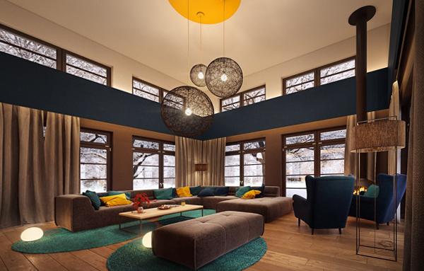 Гостиная в современном стиле (мебель модерн) – 1
