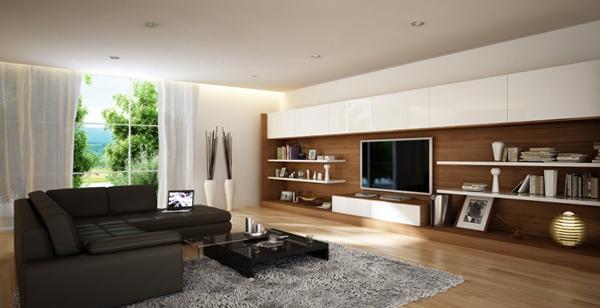 Гостиная в современном стиле (мебель модерн) – 4