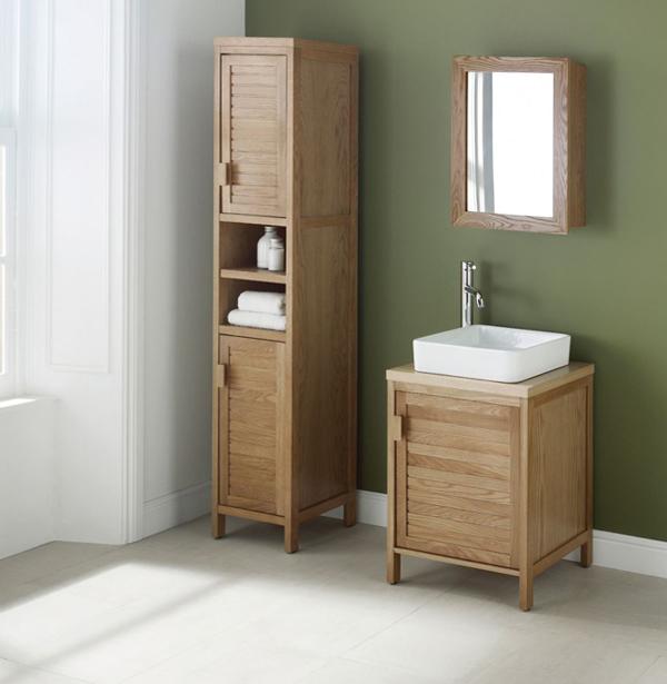 Деревянная мебель для ванной комнаты - 1