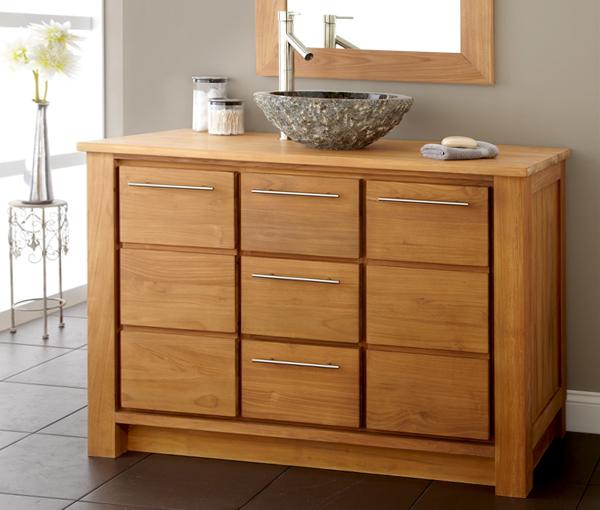 Деревянная мебель для ванной комнаты - 2