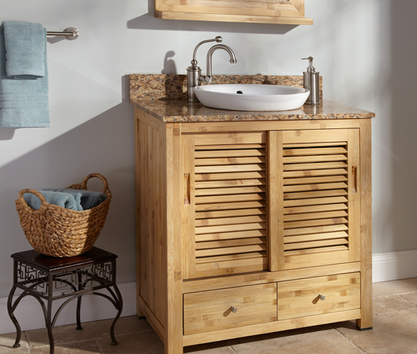 Деревянная мебель для ванной комнаты - 3