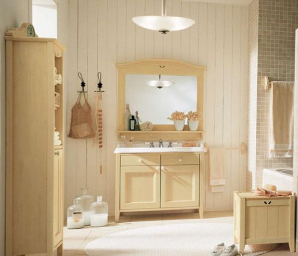 Деревянная мебель для ванной комнаты - 4