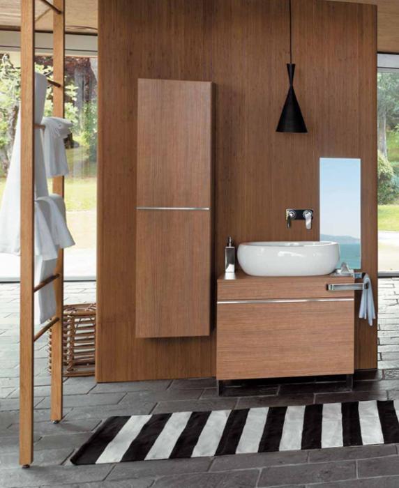 Деревянная мебель для ванной комнаты - 5