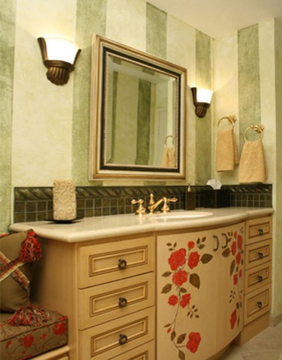 Этническая мебель для ванной комнаты - 3